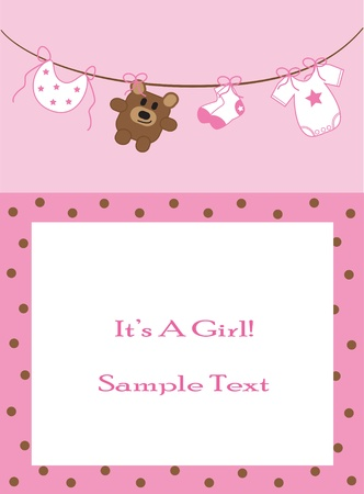 Baby Girl Announcement 版權商用圖片 - 9716804