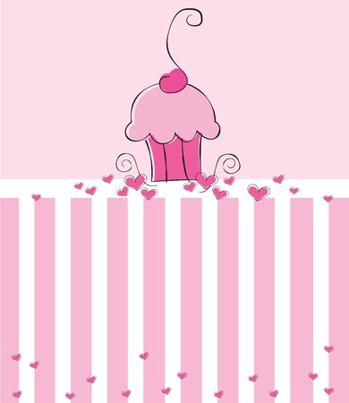 Cupcake Einladen Standard-Bild - 10229651