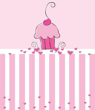 Cupcake Invite Vector
