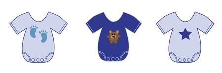 De kleren van de jongen van de baby