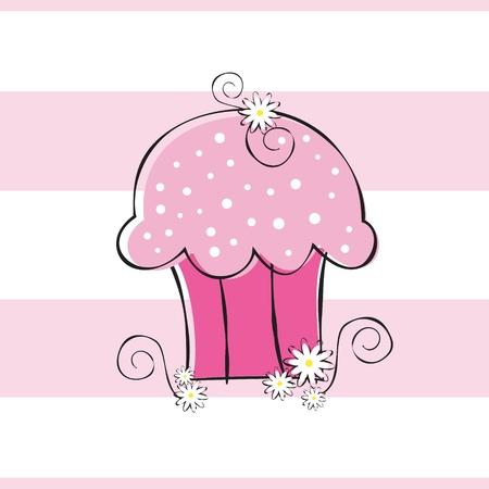 Cute Flower Cupcake