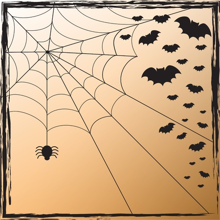 Toile d'araignée et les chauves-souris Banque d'images - 10446796