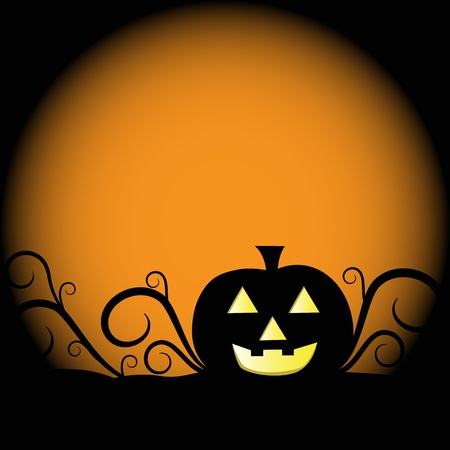 fall images: Spooky Halloween Pumpkin Illustration