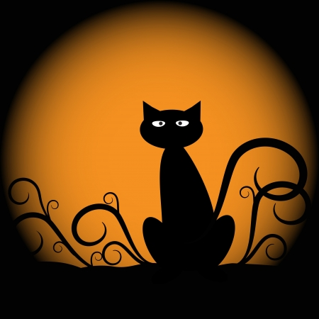 cat: Halloween Cat Illustration