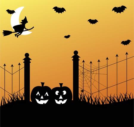 broomsticks: Halloween Illustration