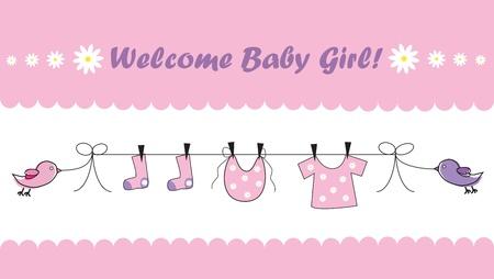 ropa de beb�: Bienvenida a ni�a