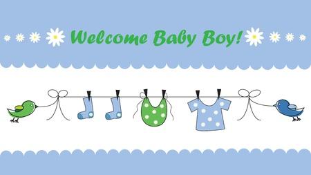Bienvenue Baby Boy Banque d'images - 10640801