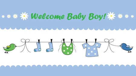 Welkom Baby Boy Stock Illustratie