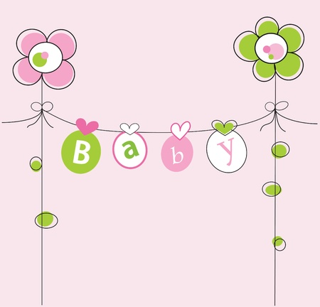 Baby Girl Stock Vector - 10640794