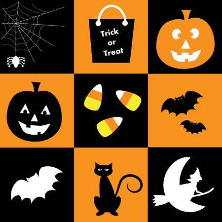 seasonal symbol: Halloween Vectores