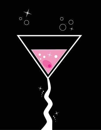 colorful straw: Pink Martini