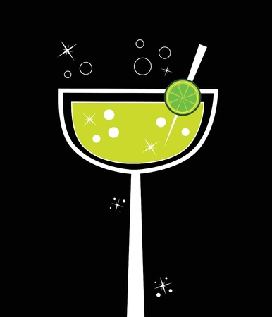 hour glasses: Fancy Margarita Illustration