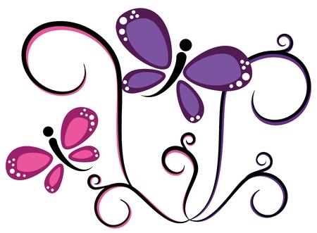 Pretty Butterflies Vectores