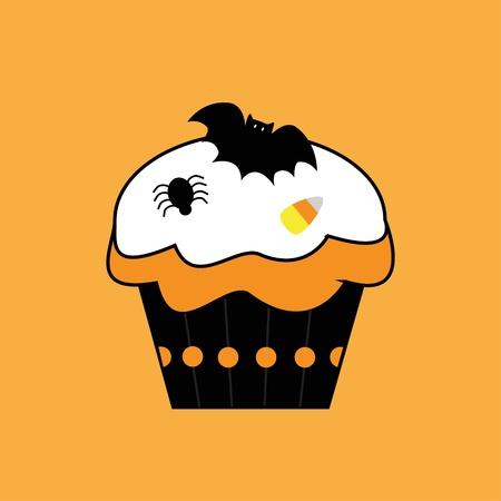 Happy Halloween Cupcake Vector