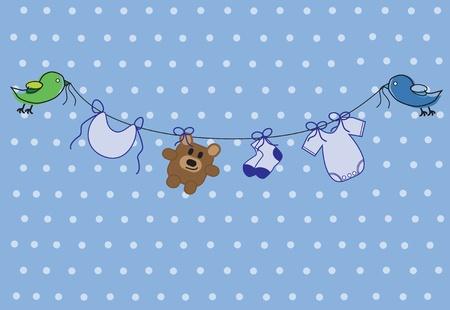 Baby Boy Shower Stock Illustratie