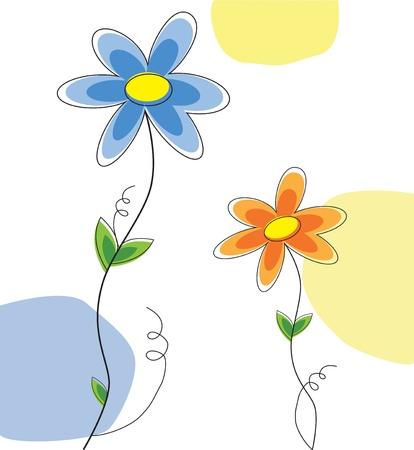 Cute Daisies Illustration