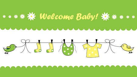 Welcome Baby 일러스트