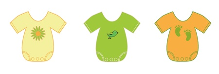 ropa de beb�: Ropa neutral beb� Vectores