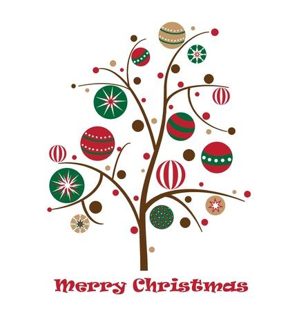 Fröhliche Weihnachtsbaum Standard-Bild - 11221589