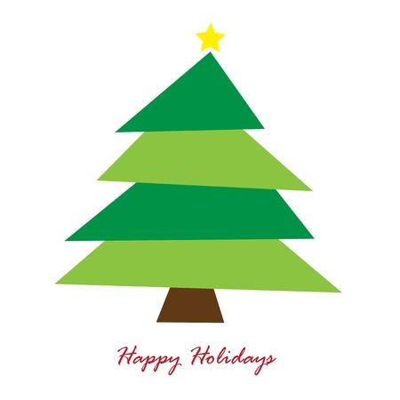 Vacaciones felices del árbol Ilustración de vector