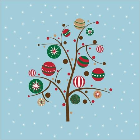 Snowy Christmas Tree Vector