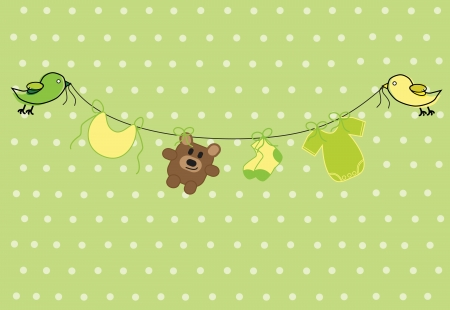 Neutral Baby Shower Vector