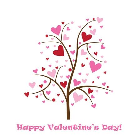 valentine tree: Happy Valentines Day