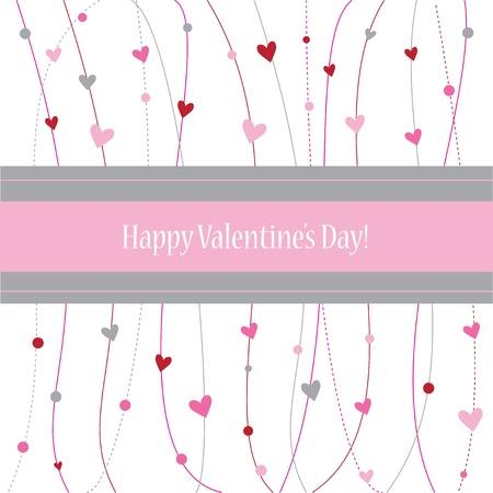 Gelukkige Valentijnsdag Kaart Stockfoto - 12073284