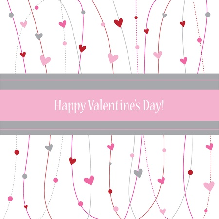 greeting card background: Happy Valentines Day Card Illustration