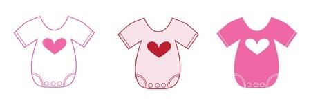 Valentine Baby Clothes Vettoriali