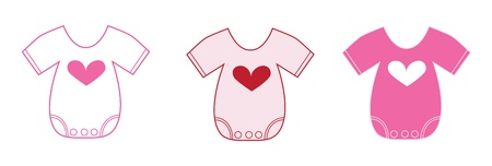 Valentine Baby Clothes Illustration