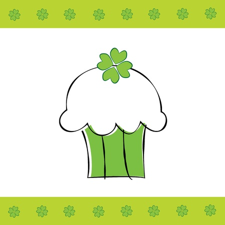Saint Patrick s Day Cupcake Vector