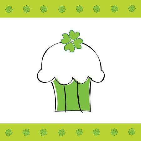 Saint Patrick s Day Cupcake Vector