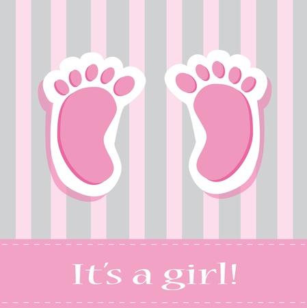 babyvoetjes: Het is een Meisje Baby Feet