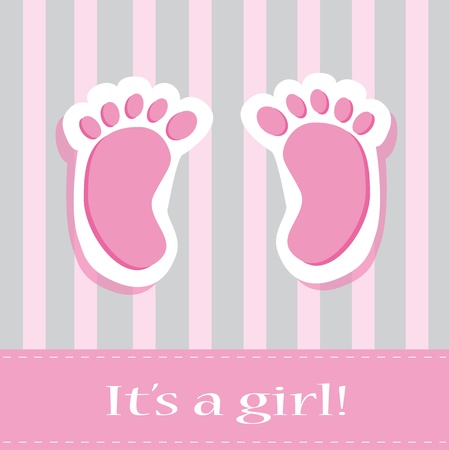 It s A Girl Baby Feet