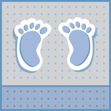 Baby Boy Feet Vector