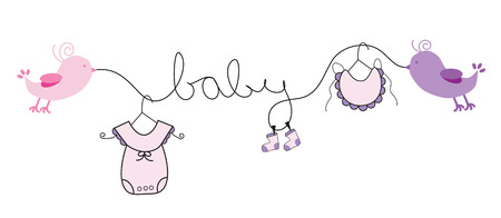 Baby Girl Stock Vector - 26108871