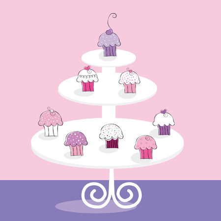 Cupcake Stand Иллюстрация