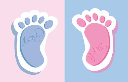 Baby voeten Stock Illustratie