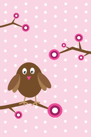 Girl Owl Vector