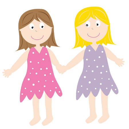 Friends Holding Hands Vector