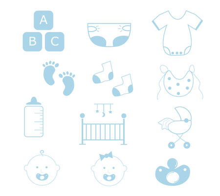 Baby Boy Items Vector