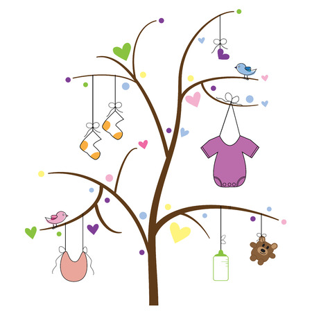 Baby Item Tree Vector
