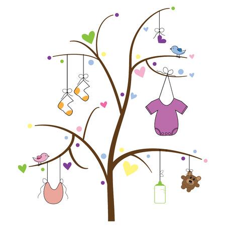 cute clipart: Baby Item Tree
