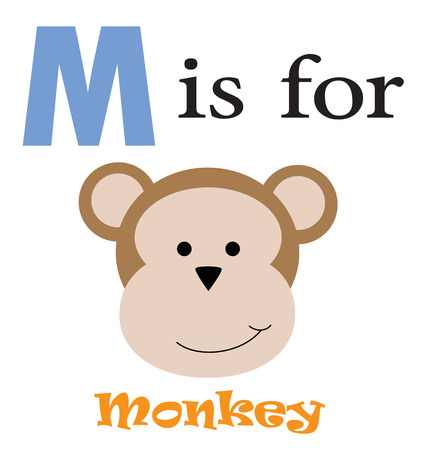 M is for Monkey Vector