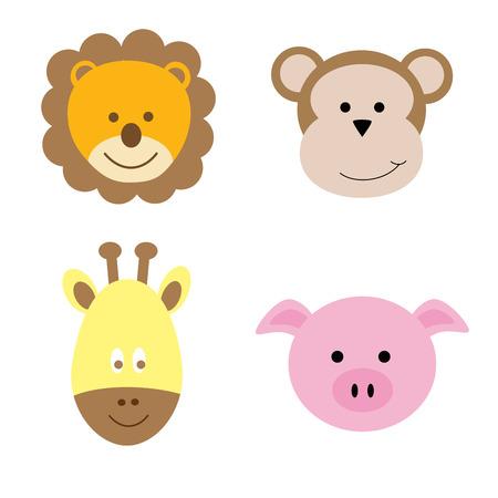 Animales Ilustración de vector
