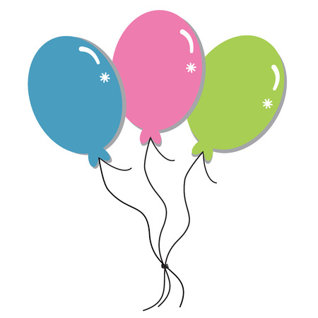 party balloons: Colorful Balloons Illustration