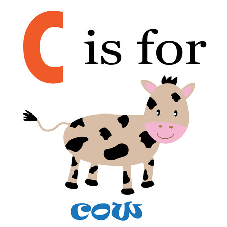kindy: C is for Cow Illustration