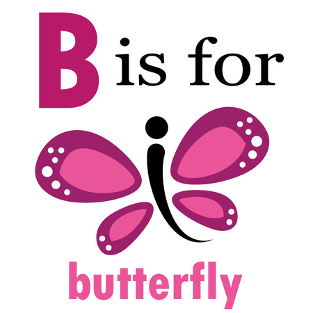 kindy: B is for Butterfly Illustration