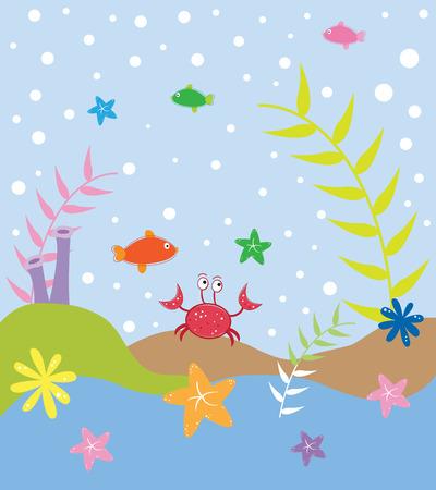 sea weeds: Under the Sea Illustration
